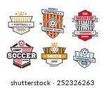 vector badges logos for... | Shutterstock .eps vector #252326263