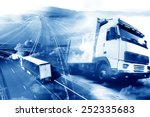 Abstract design background Trucks and transport.Highway and delivering