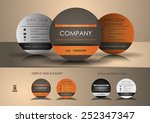 circle business card | Shutterstock .eps vector #252347347