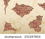 the old shabby concrete and... | Shutterstock .eps vector #252357853