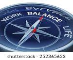 compass work life balance   Shutterstock . vector #252365623