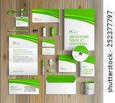 classic white corporate... | Shutterstock .eps vector #252377797