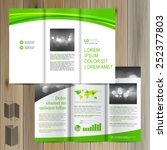 classic white brochure template ... | Shutterstock .eps vector #252377803
