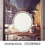 3d Rendering Of Poster On Window
