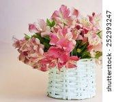Small photo of bouquet of alstroemeria