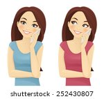 smiling woman phone talking | Shutterstock .eps vector #252430807