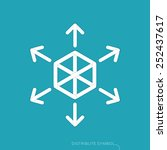 content distribution concept  ...   Shutterstock .eps vector #252437617