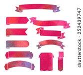 vector watercolor colorful... | Shutterstock .eps vector #252439747