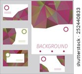 set of cards with abstract... | Shutterstock .eps vector #252440833