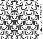 seamless simple art deco wave...   Shutterstock .eps vector #252445933