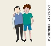 friends color vector... | Shutterstock .eps vector #252447907
