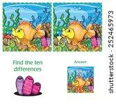 marine life   find ten... | Shutterstock .eps vector #252465973