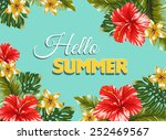 vector postcard with hawaian... | Shutterstock .eps vector #252469567