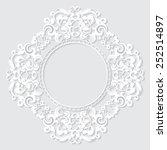 carved vintage frame made of... | Shutterstock .eps vector #252514897
