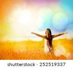 free happy woman enjoying... | Shutterstock . vector #252519337