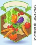 vegetarian food | Shutterstock .eps vector #252529693