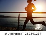 healthy lifestyle sports woman... | Shutterstock . vector #252541297
