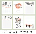 collection of six cute... | Shutterstock .eps vector #252552127