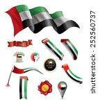 uae flag  made in emirates seal ... | Shutterstock .eps vector #252560737