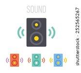 vector audio speaker icons.