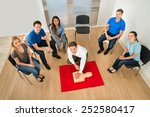 elevated view of first aid... | Shutterstock . vector #252580417