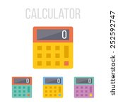 vector calculator icons.