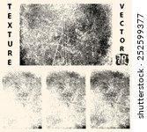 grunge textures set  vector... | Shutterstock .eps vector #252599377