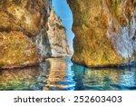 cave in orosei gulf. shot in...   Shutterstock . vector #252603403