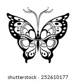 abstract decorative butterfly.... | Shutterstock .eps vector #252610177