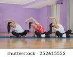 group of women practicing... | Shutterstock . vector #252615523