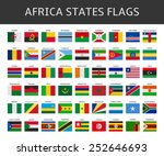 flag of africa states vector set | Shutterstock .eps vector #252646693