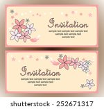 vintage floral background with... | Shutterstock .eps vector #252671317