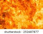 blaze fire flame texture... | Shutterstock . vector #252687877