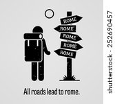 all roads lead to rome | Shutterstock .eps vector #252690457