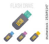 vector flash drive icons.