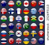 world flags collection. 36 high ... | Shutterstock . vector #252695113