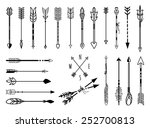 big set of hand drawn arrows.... | Shutterstock .eps vector #252700813