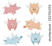 cute pigs | Shutterstock .eps vector #252701353