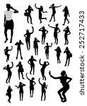 girls and mobile phone... | Shutterstock .eps vector #252717433