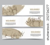 Wild Animals Banners. Drawing...