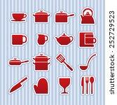 kitchen icons   vector... | Shutterstock .eps vector #252729523