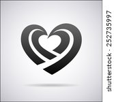 heart vector logo design... | Shutterstock .eps vector #252735997