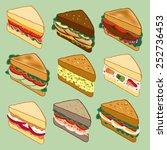 Sandwich Variety Parade Vector...
