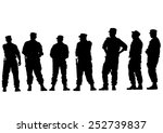 people of special police force... | Shutterstock . vector #252739837