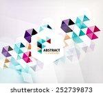 geometric abstract polygonal... | Shutterstock .eps vector #252739873