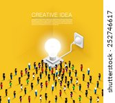 crowd people committed idea... | Shutterstock .eps vector #252746617