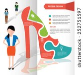 shoe puzzle info graphic design ... | Shutterstock .eps vector #252751597