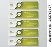 design clean number banners... | Shutterstock .eps vector #252763627