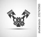 vector icon of automotive engine | Shutterstock .eps vector #252765583