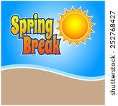 spring break | Shutterstock .eps vector #252768427